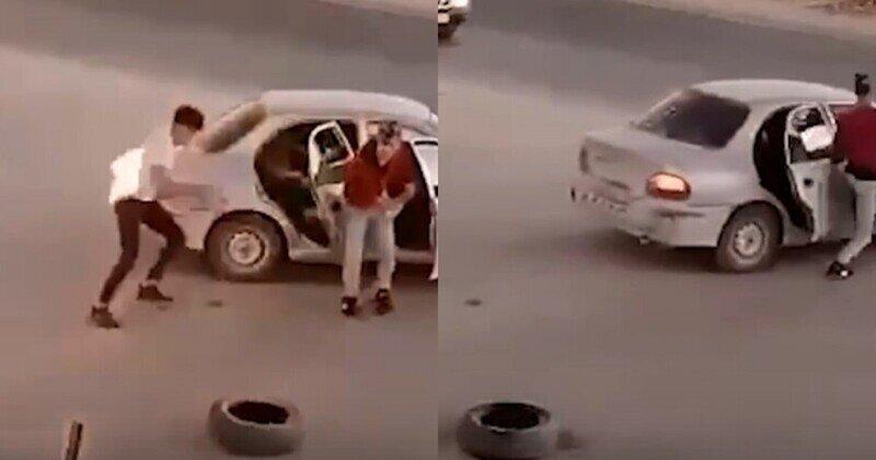 Мамкин революционер: палестинец поджег себя, пытаясь закинуть коктейль Молотова на израильский КПП