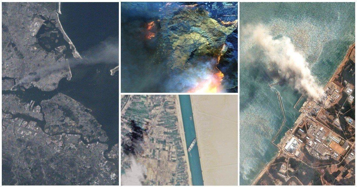 Что видно с МКС: 20 фото на страшные происшествия с самого неожиданного ракурса