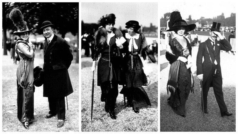 Французская мода на уличных фотографиях 1910-1920 годов