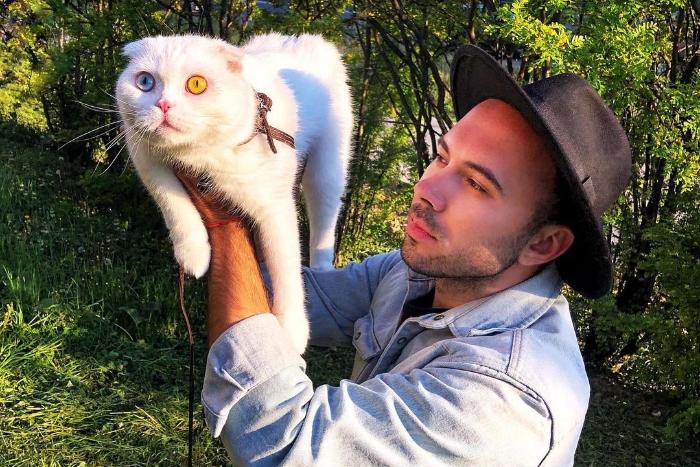 Петербургский кот Иосиф стал звездой за рубежом. Про него писали People и Daily Мail — всё из-за глаз разного цвета