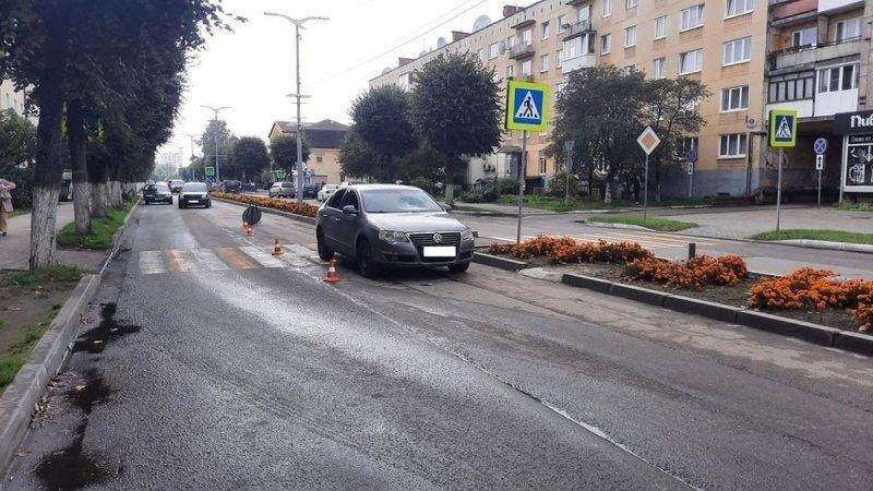 Под Калининградом пожилой велосипедист не спешился на зебре и поплатился