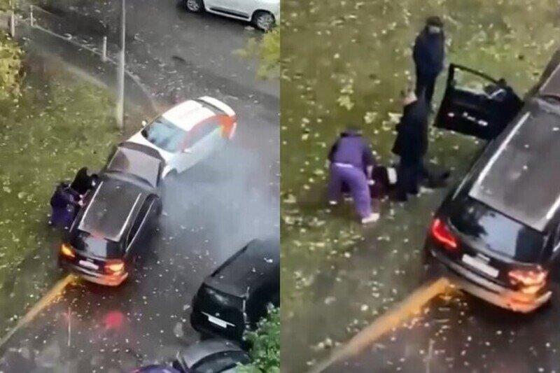 При попытке припарковаться пьяный москвич разбил семь авто