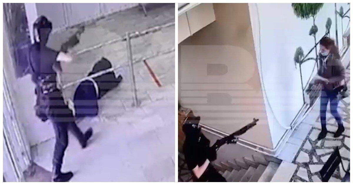 СМИ опубликовали видео нападения Бекмансурова на университет
