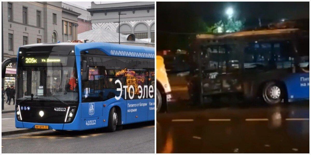 В Москве сгорел электробус