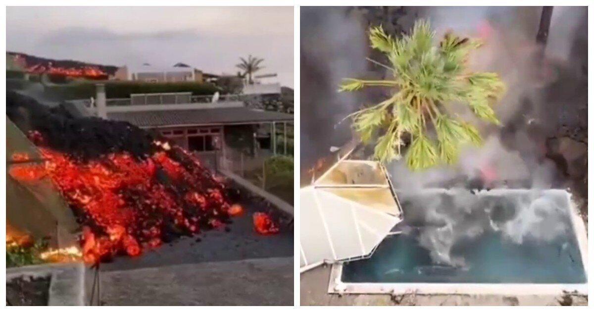 """La Palma: """"геенна огненная"""" неотвратимо съедает улицы и дома """"рая под открытым небом"""""""