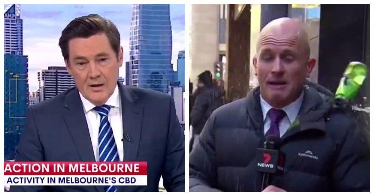 Журналист, освещавший в Мельбурне антиковидную манифестацию, пожалел, что не надел каску