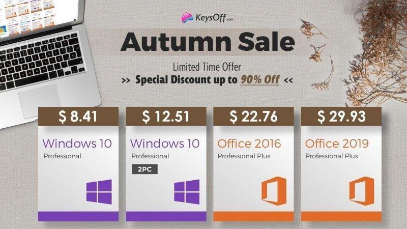 Windows 10 Pro за $8.41 - стартовала осенняя распродажа в магазине KeysOFF