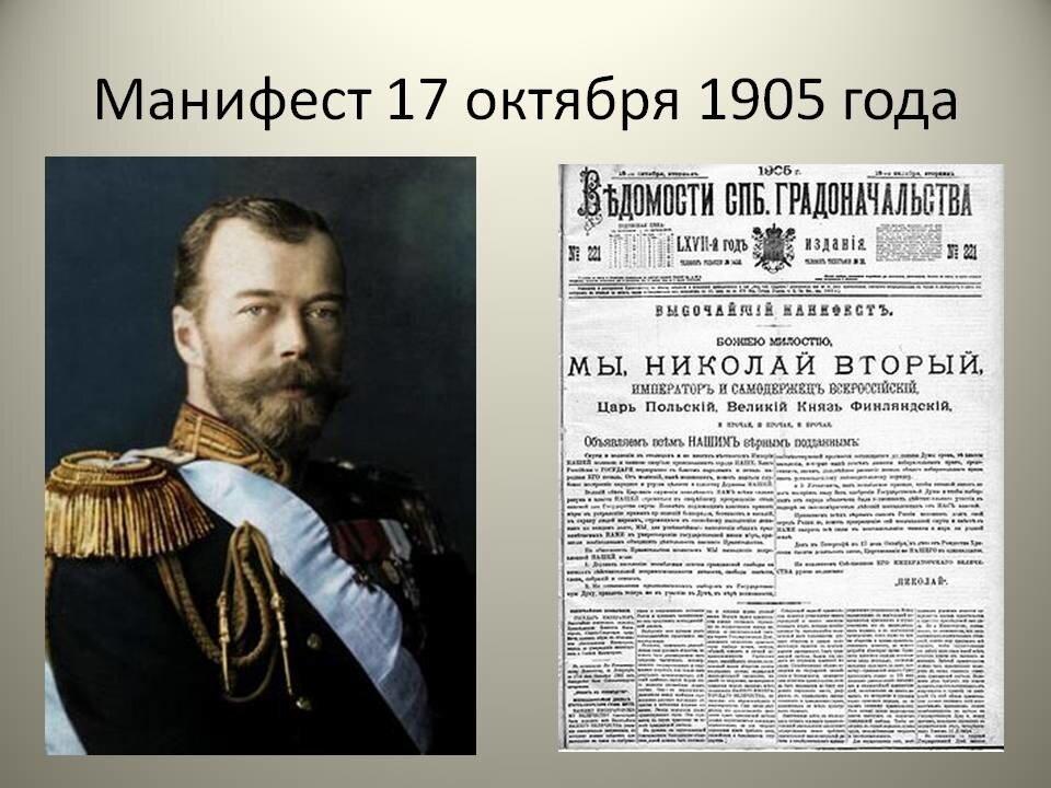 Причины создания и подписания Манифеста от 17 октября 1905 года