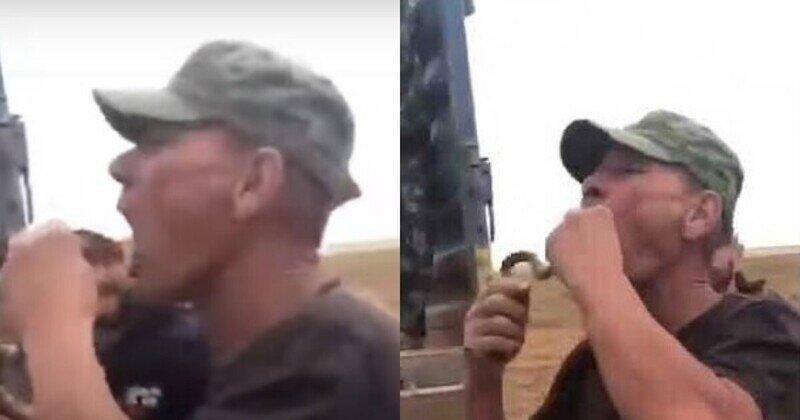 Астраханец решил показать фокус с проглатыванием змеи, но перепутал ужа с гадюкой