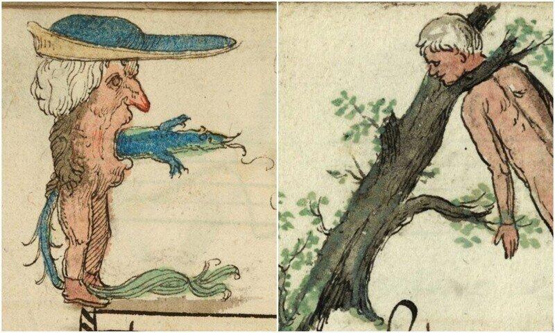 Странные и жутковатые иллюстрации из песенника XVI века
