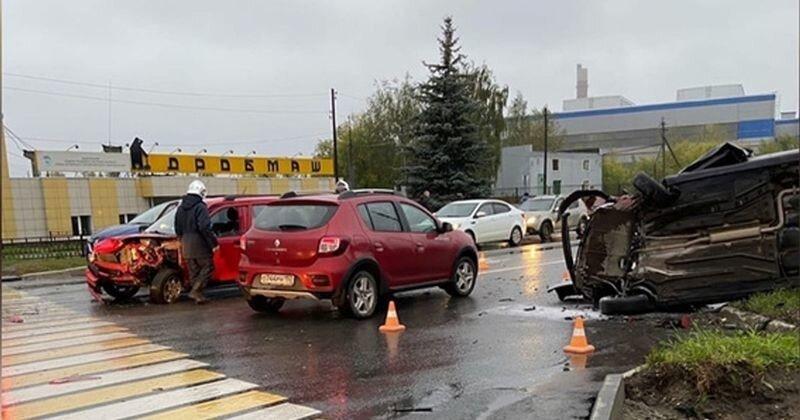 Авария дня. Серьёзная авария с пьяным водителем в Нижегородской области
