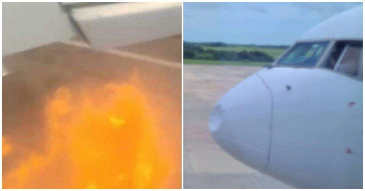 Российский самолет столкнулся с орлами при в взлете в аэропорту Варадеро