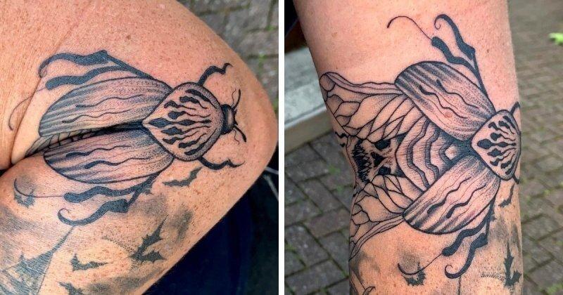 Интересные татуировки, которые изменяются, когда люди сгибают свое тело
