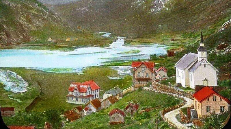 Цветные фото старой Норвегии