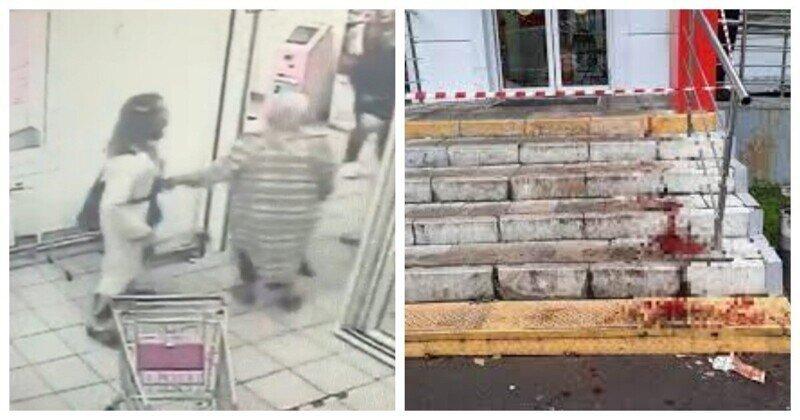 В Москве неадекватный мужчина с топором напал на покупателей в магазине