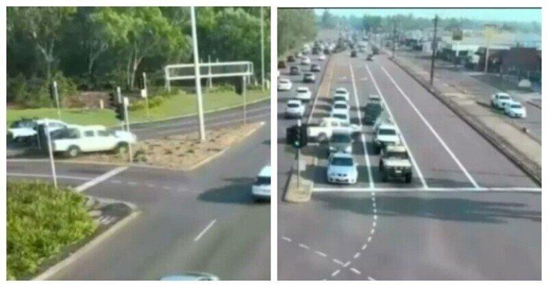 Удивительный случай на австралийской дороге