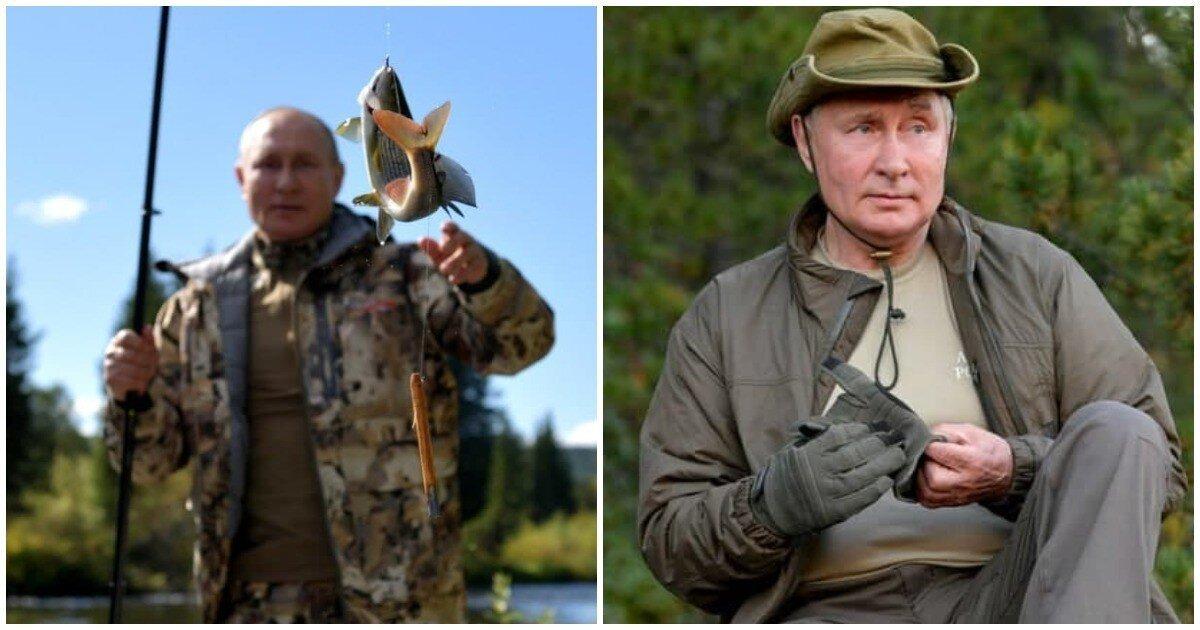 Кремль опубликовал фотографии Путина из  сибирской тайги