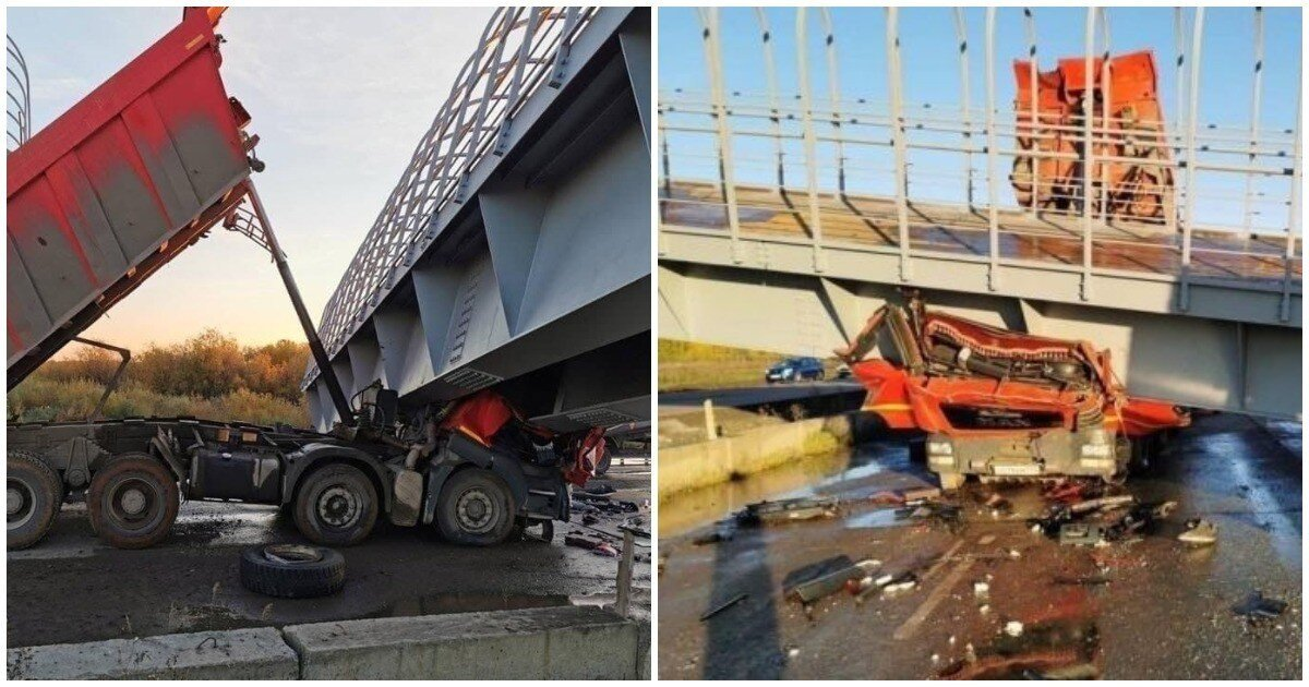 В Пермском крае грузовик обрушил пешеходный мост