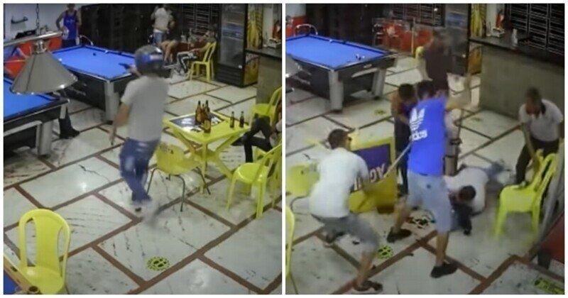 Преступник пожалел, что решил ограбить посетителей бильярд-клуба