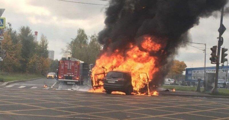 Авария дня. Страшное ДТП с возгоранием в Зеленограде