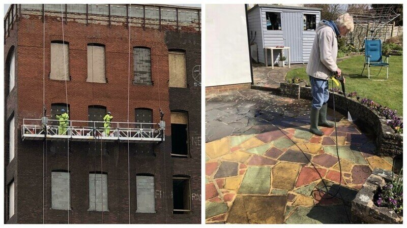 30 фотографий до и после уборки с помощью аппаратов высокого давления