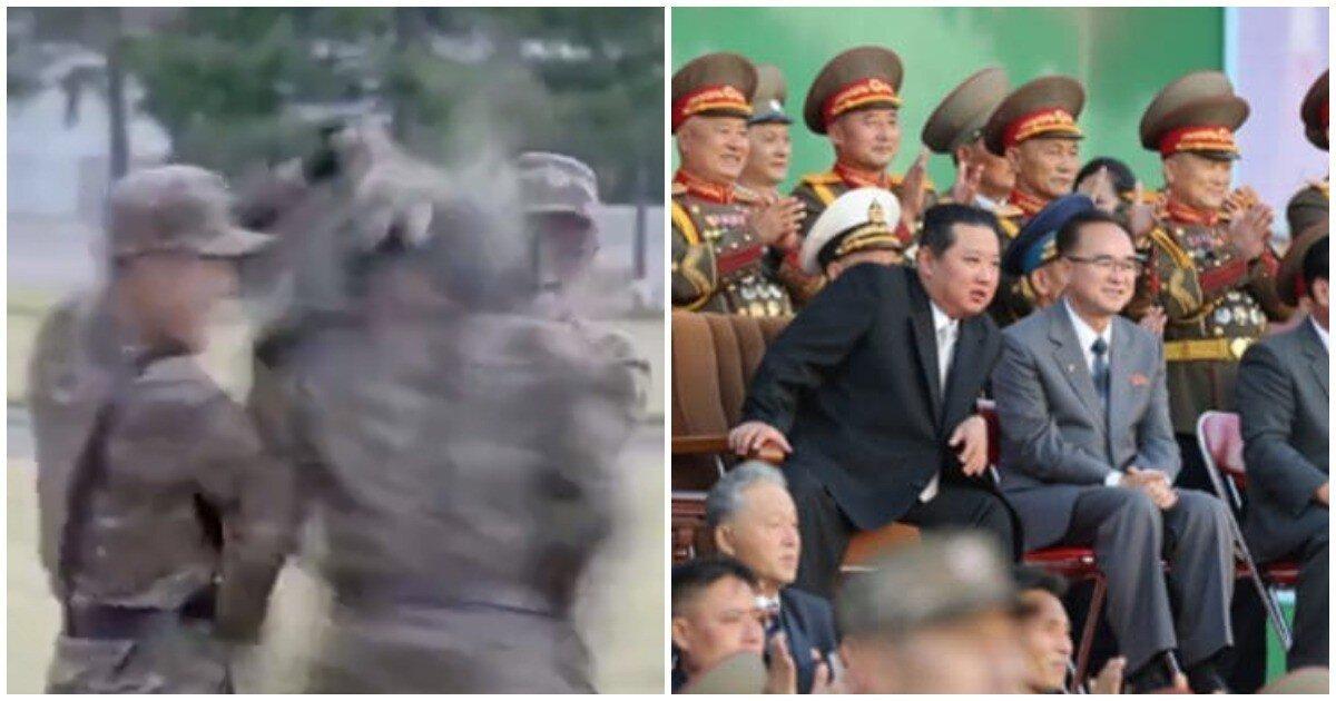 Спецназ КНДР показал Ким Чен Ыну умение головой с разбега ломать бетонные плиты