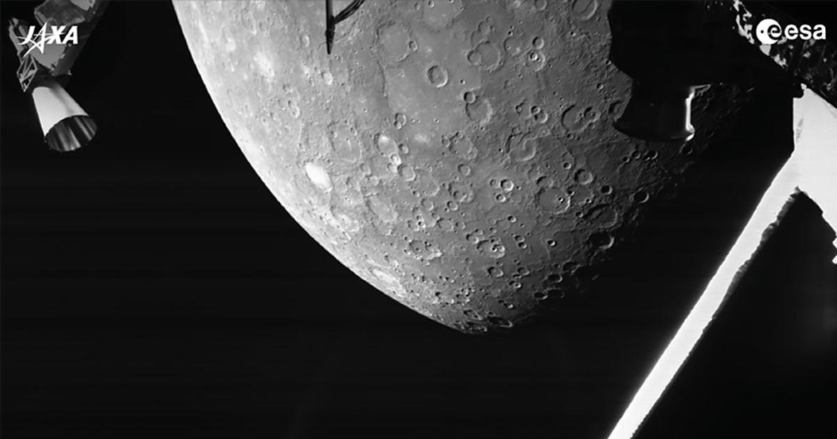 «БепиКоломбо» сделал первые фотографии Меркурия