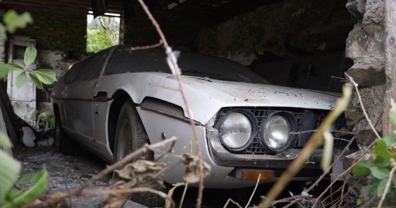 Редкий Lamborghini Espada нашли в британской сельской местности после 30 лет забвения