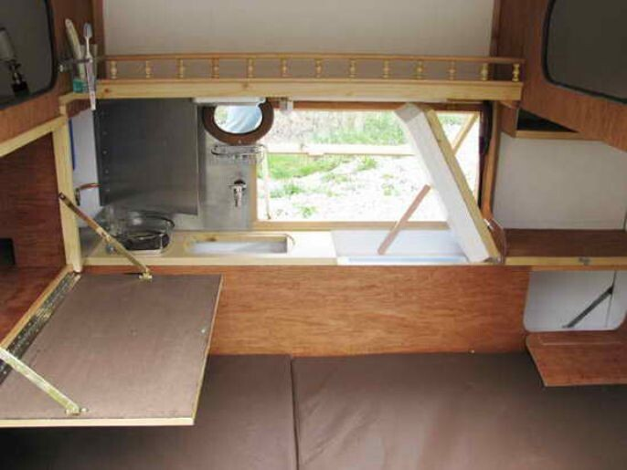 bunk, kitchen, closet all in one