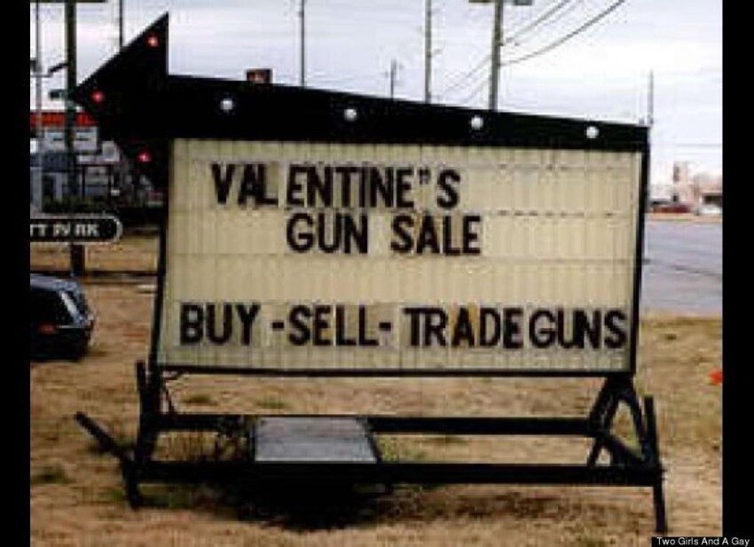 Valentines Day Gun Sale