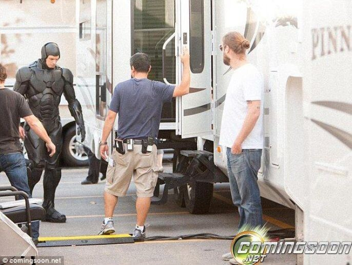 Robo Cop heads to his trailer