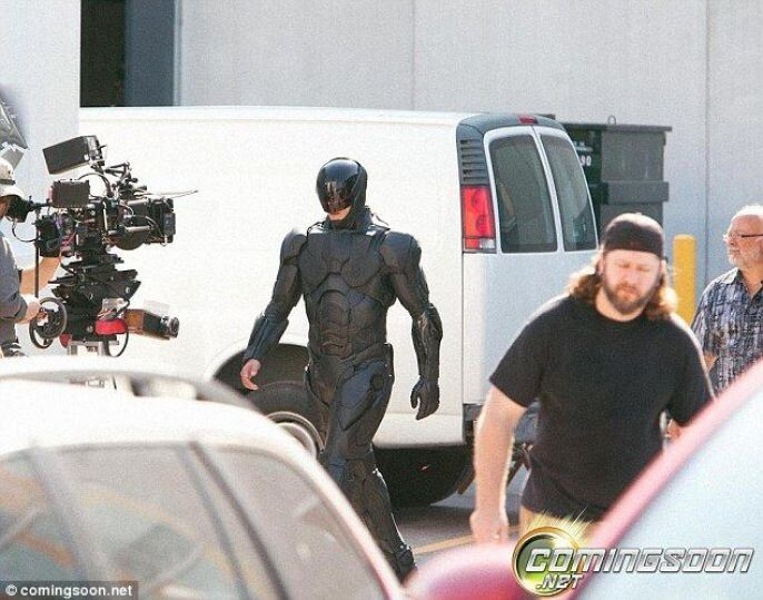 Robo Cop Walking for the camera