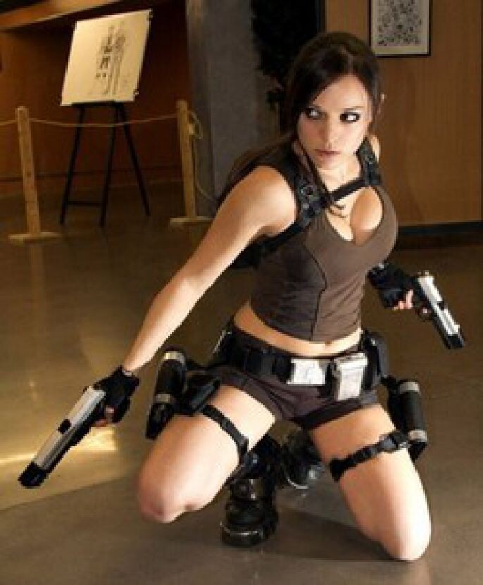 Tomb Raider in a museum