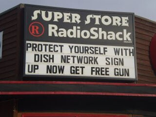 Radioshack now sells guns