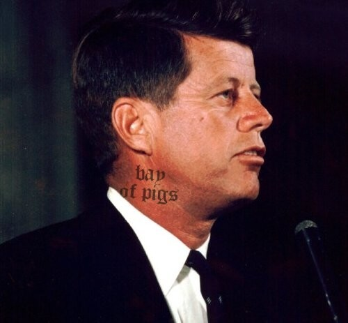JFK Neck Tattoo