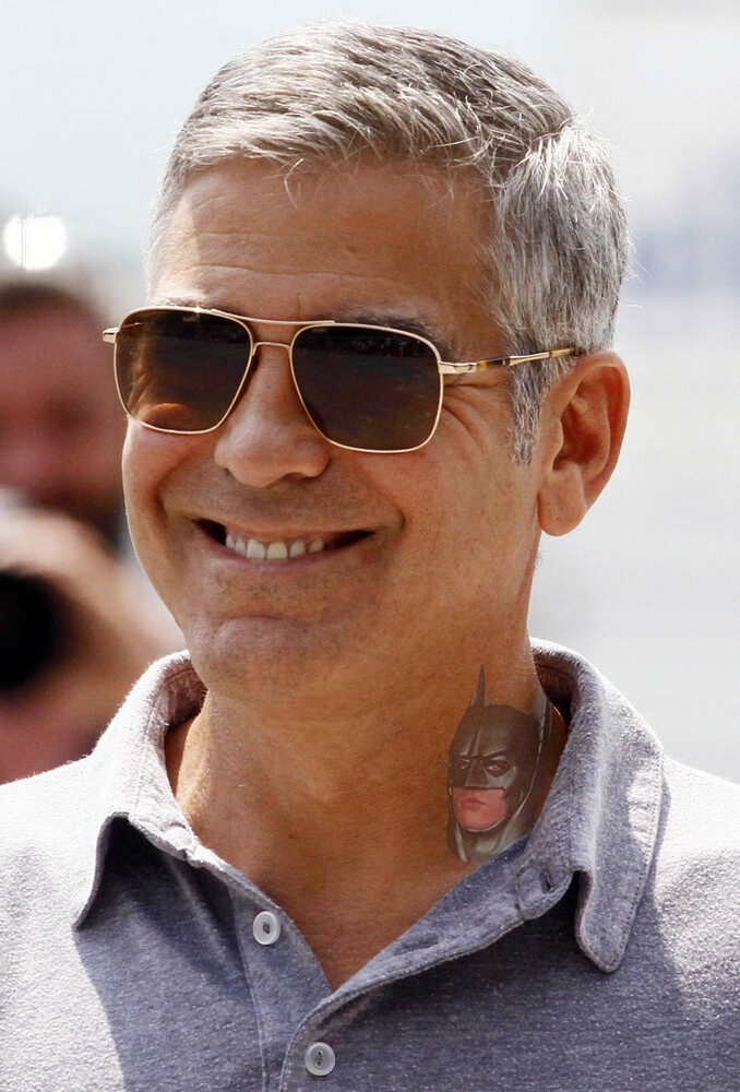 George Clooney Neck Tattoo
