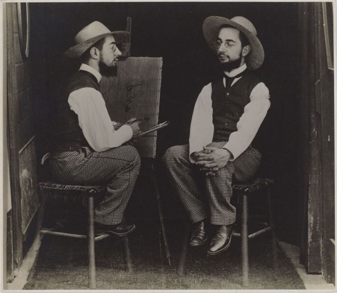14. Henri de Toulouse-Lautrec, Artist and Model, 1892