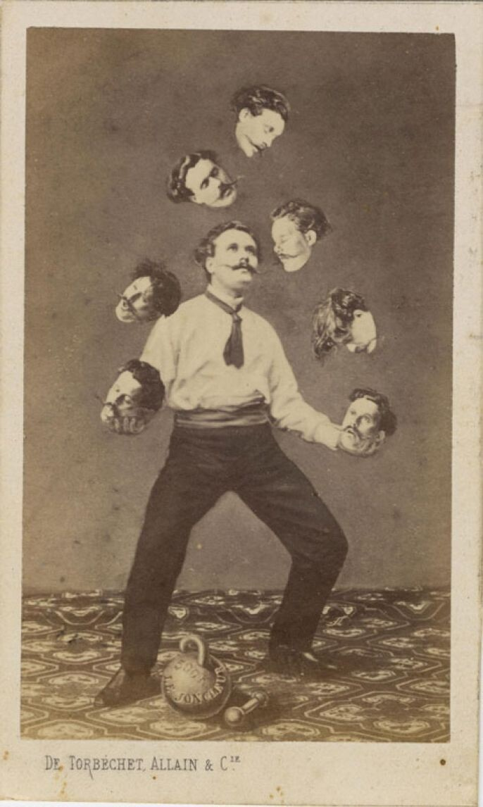 15. Juggling Man and his own head, 1880