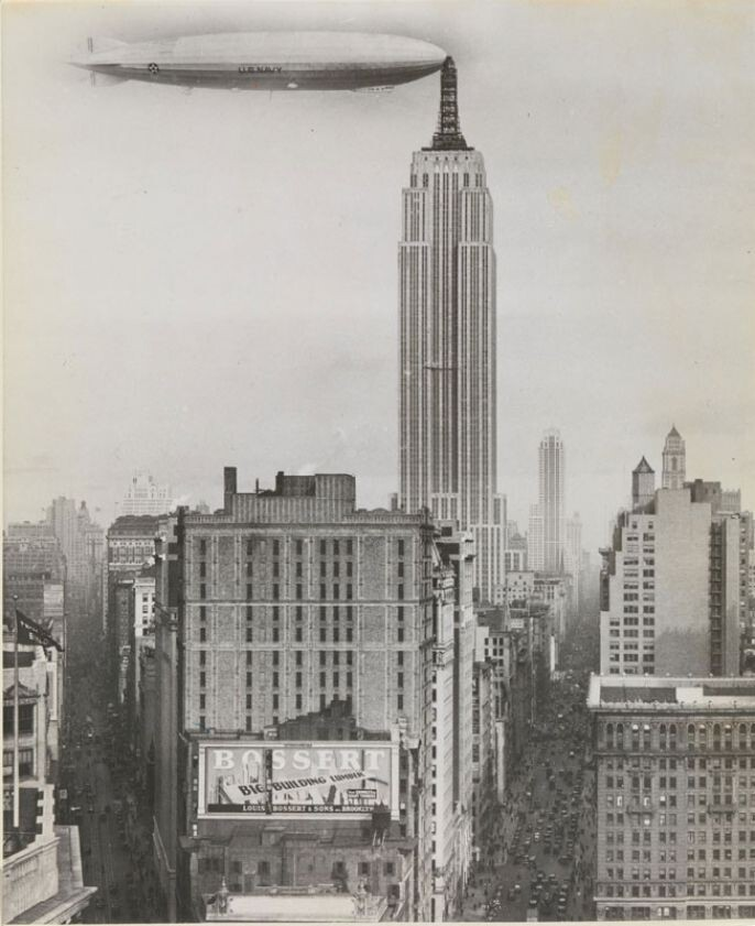 6. Airship docked at the Empire State Building, New York, 1930