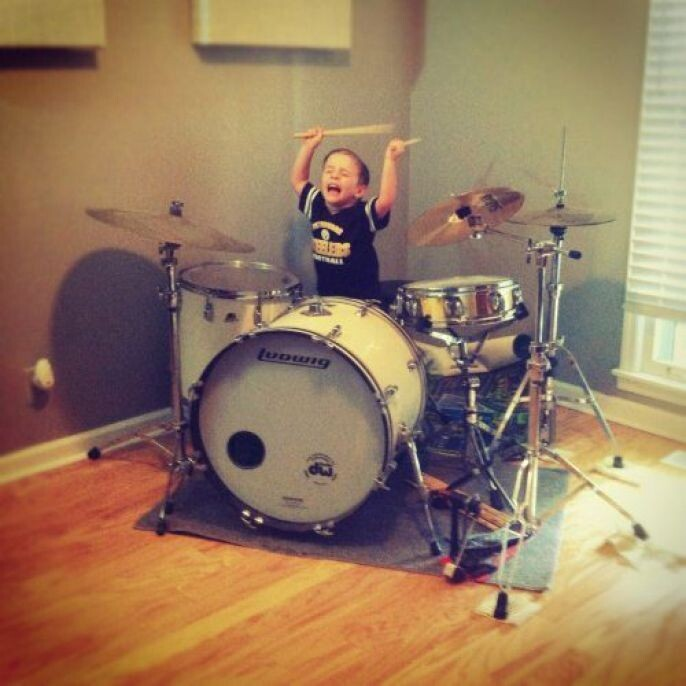 Kids on the drums
