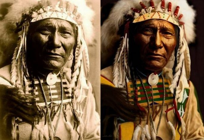 Old Indian Photo Recolored