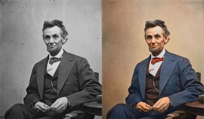 Abe Lincoln Recolored
