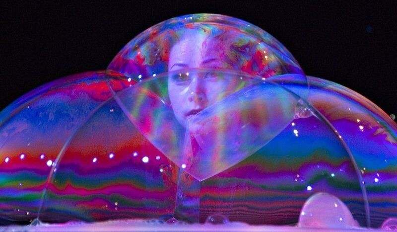 Woman Inside Bubble