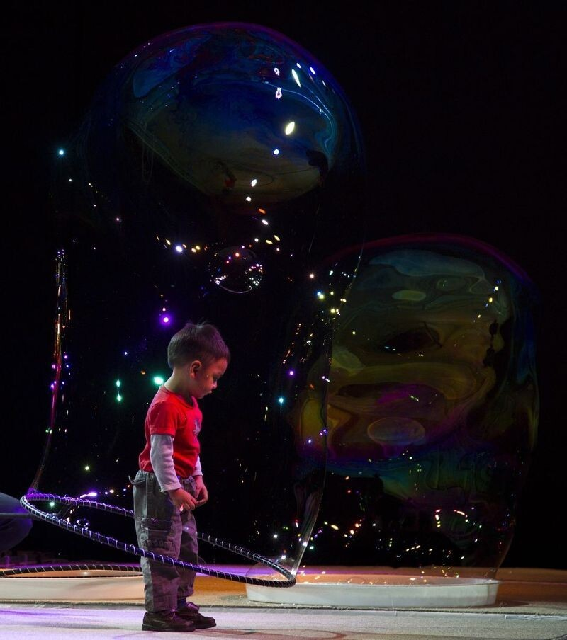 Boy In Giant Bubble