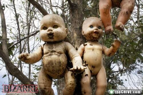 Dirty Hanging Dolls