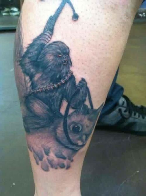 Chewbaca tattoo