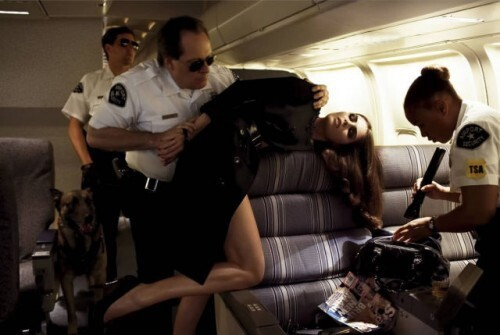 Arrested on a plane