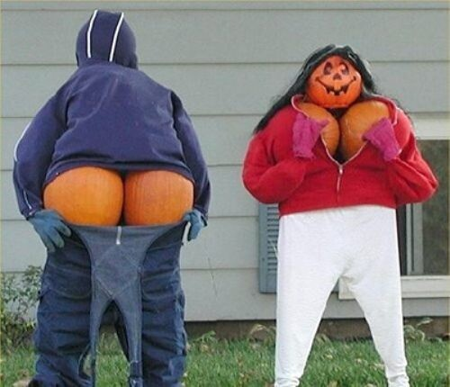 Funny Pumpkin People