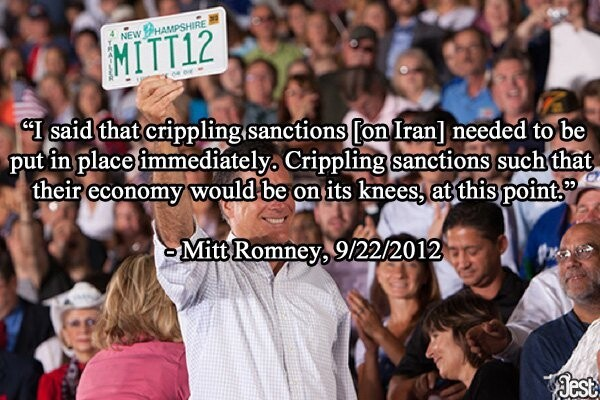 Romney Wants Iran On Their Knees