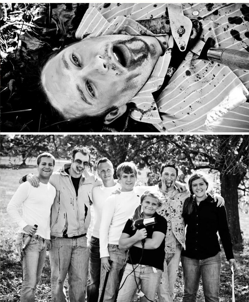 Zombies Crash A Family Portrait